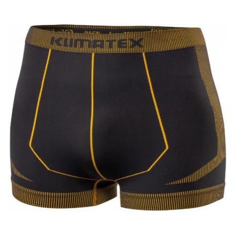 Boxerky Klimatex FAILO Antracit / Žlutá