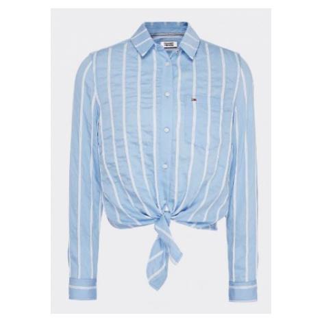 Tommy Hilfiger Tommy Jeans dámská košile s uzlem Front Knot Shirt