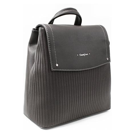 Tmavě šedý elegantní dámský batoh Kalcey David Jones