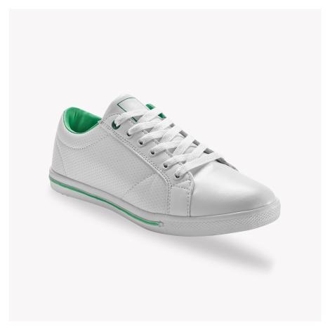 Blancheporte Dvoubarevné tenisky bílá/zelená