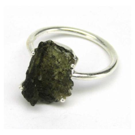 AutorskeSperky.com - Stříbrný prsten s vltavínem - S5380