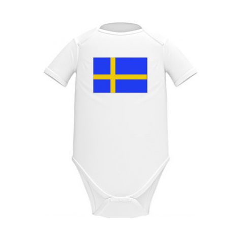 Dětské body krátký rukáv BIO Švédsko