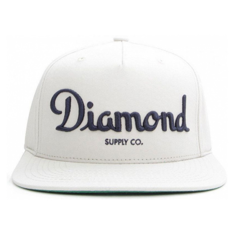 KŠILTOVKA DIAMOND CHAMPAGNE - bílá Diamond Supply Co.