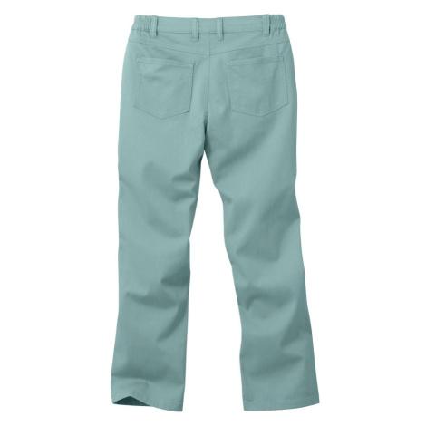 Blancheporte Twilové kalhoty rovného střihu zelenkavá