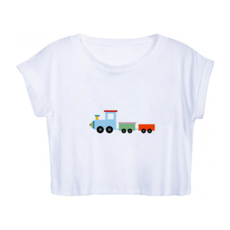 Dámské tričko Organic Crop Top Kids train