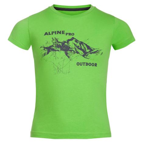 Dětské triko Alpine Pro DAYO - zelená
