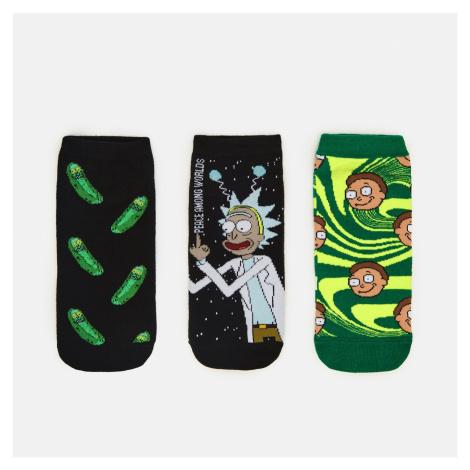 Cropp - Sada 3 párů ponožek Rick and Morty - Černý