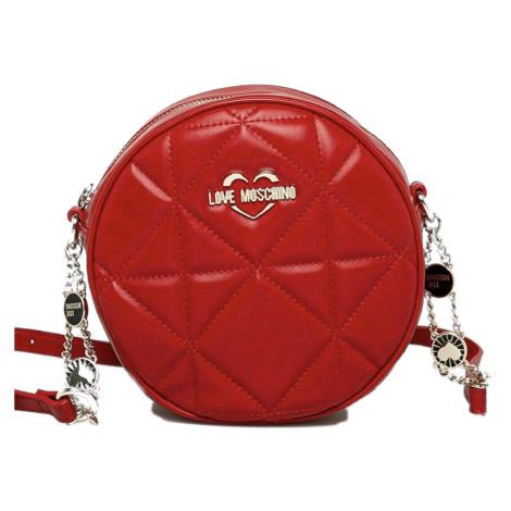 Červená kulatá kabelka - LOVE MOSCHINO