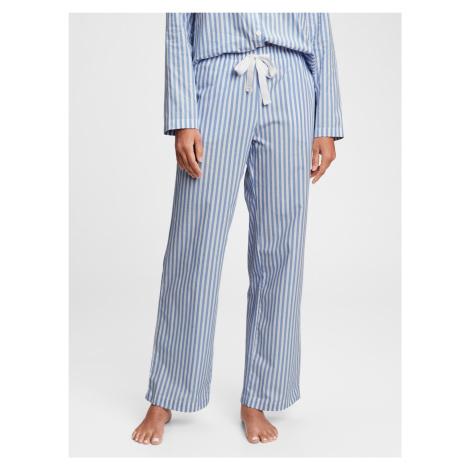 GAP modré dámské pyžamové kalhoty poplin pajama pants