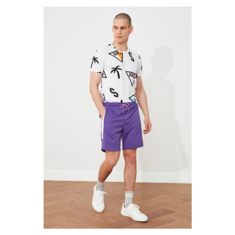 Trendyol Men's Purple Regular Fit Shorts & Bermuda