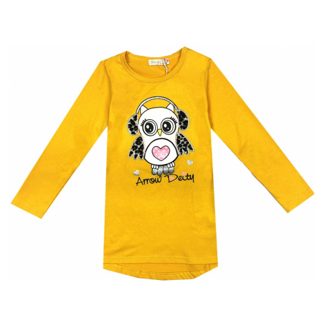 Dívčí triko - KUGO K9837, žlutá