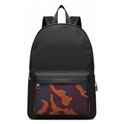 Černý batoh Kono se vzorem