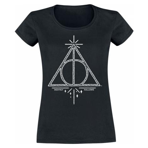 Harry Potter Deathly Hallows dívcí tricko černá