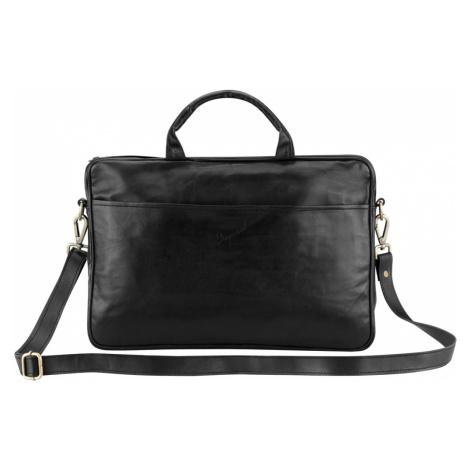 Bagind Makey Sirius - Dámská i pánská kožená taška (aktovka) na notebook černá, ruční výroba, če