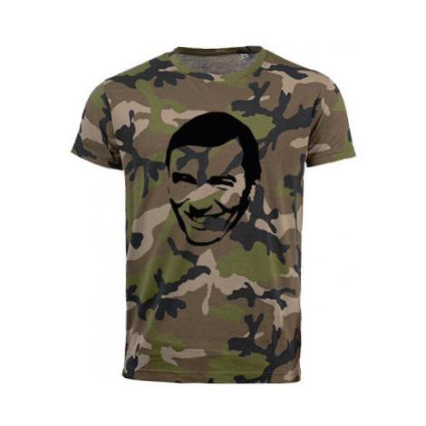 Pánské maskáčové tričko Karel Gott