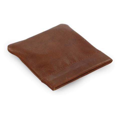 Tmavě hnědá kožená kapsa na mince Emery Arwel