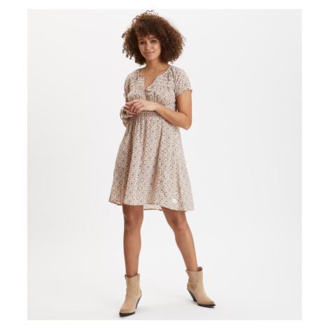 Šaty Odd Molly Facile Flower Dress - Hnědá