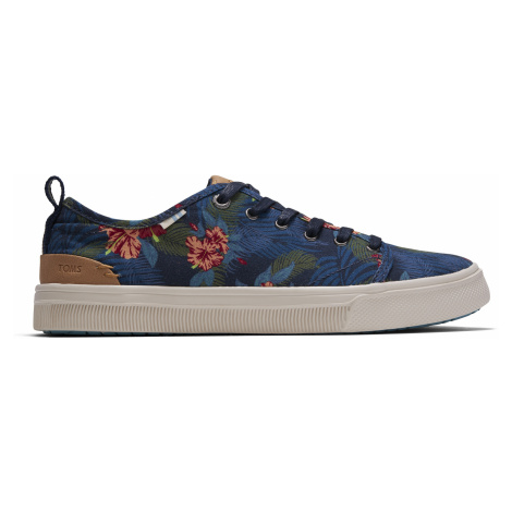 NAVY TROPICAL PRINT WM TRVLO SNEAK Toms