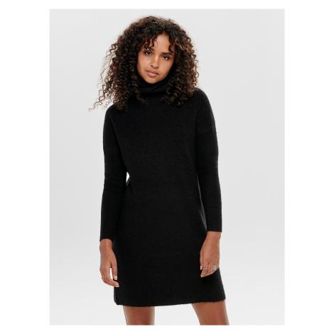 Černé svetrové šaty s rolákem ONLY Jana