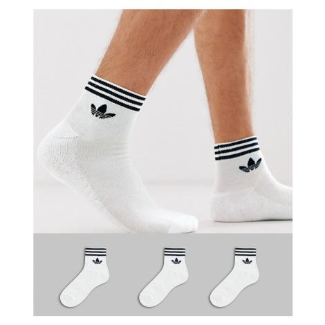 Adidas Originals 3 pack ankle socks white