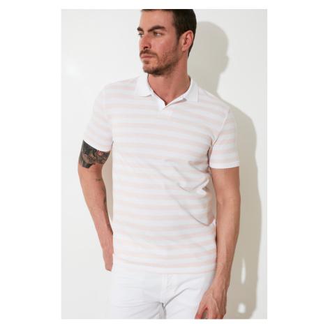 Trendyol White Men's Polo Neck Slim Fit T-shirt