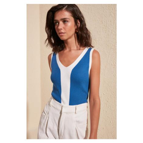 Trendyol Blue V Collar Blouse