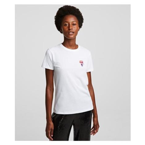 Tričko Karl Lagerfeld Mini 3D Ikonik Karl T-Shirt - Bílá