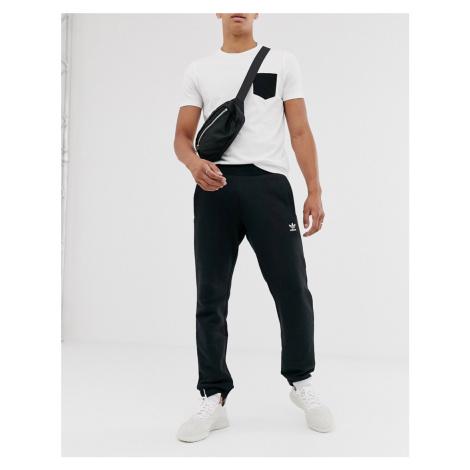 Adidas Originals logo joggers in black