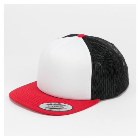Yupoong Foam Trucker With White Front červená / bílá / černá