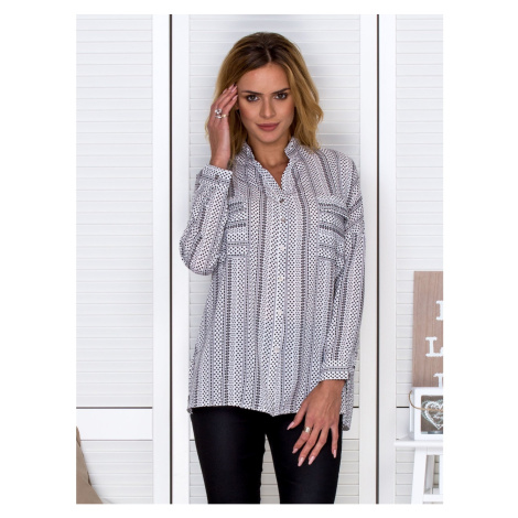 Black and white patterned blouse Fashionhunters
