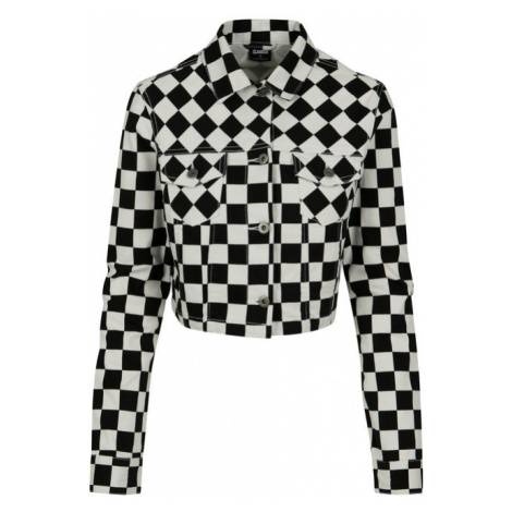 Urban Classics Ladies Short Check Twill Jacket chess