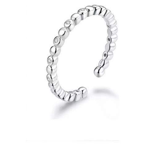 Linda's Jewelry Stříbrný prsten se zirkony Mystická Očka Ag 925/1000 IPR061 Velikost: Univerzáln