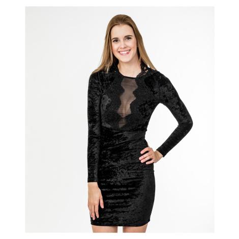 Černé sametové šaty - FRENCH CONNECTION