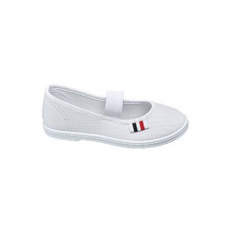 Bílá plátěná domácí obuv Vty