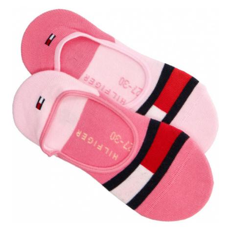 Tommy Hilfiger dívčí růžové ponožky 2pack