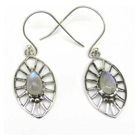 AutorskeSperky.com - Stříbrné naušnice s měsíčními kameny - S5458