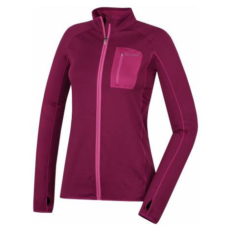 Women's sweatshirt Tarr zip L Magenta