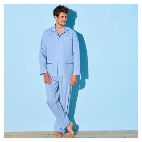 Blancheporte Klasické pyžamo nebeská modrá