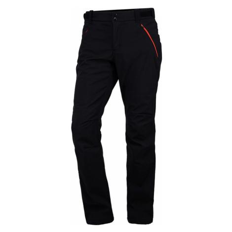 NORTHFINDER ALDORA Pánské softshellové kalhoty NO-3437OR383 černooranžová