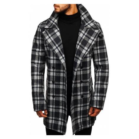 Šedý pánský zimní kabát Bolf 1115