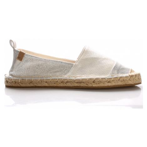 Stříbrno bílé espadrilky Monshoe