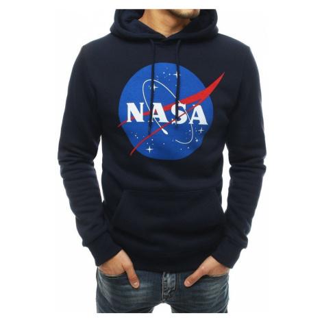 Dstreet Zateplená mikina v granátové barvě NASA