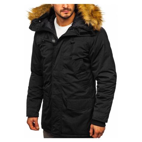 Černá pánská zimní bunda parka alaska Bolf HZ8109 RED FIREBALL