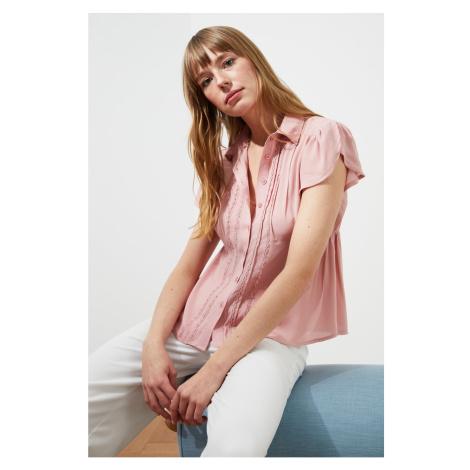 Trendyol Powder Lace Detail Shirt