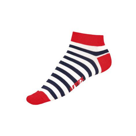 Litex 99666 Designové ponožky nízké | pruhy