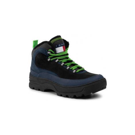 Tommy Jeans Turistická obuv Hilfiger Expedition Boot EM0EM00378 Černá Tommy Hilfiger