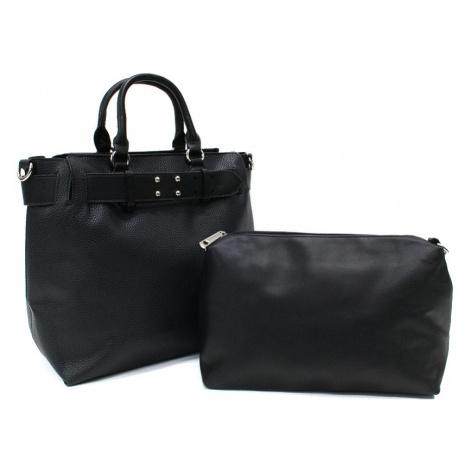 Černý dámský elegantní kabelkový set 2v1 Berthe Tapple
