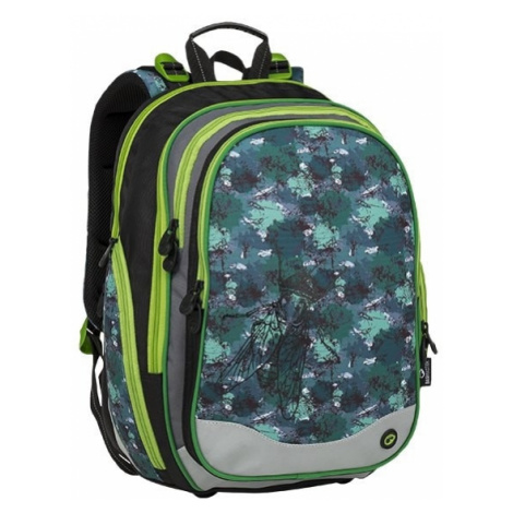 Bagmaster Školní batoh ELEMENT 9 B BLACK/GREEN/GRAY 22 l