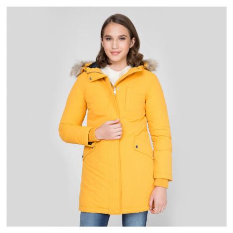 Tommy Jeans dámská hořčicově žlutá zimní parka