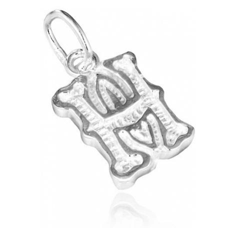 Stříbrný přívěsek 925 - písmeno H s dekorací Šperky eshop
